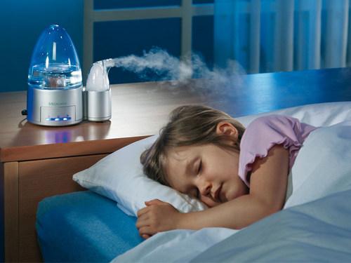 Работа детского увлажнителя воздуха в ночном режиме